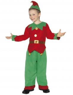 Weihnachtself Kinderkostüm Wichtel rot-grün