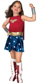 Wonder Woman™-Kostüm für Mädchen Superheldin-Kostüm rot-blau-gold