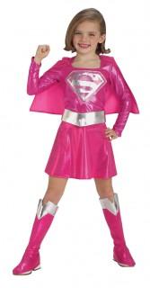 Supergirl™ Kinder Lizenzkostüm rosa-silberfarben