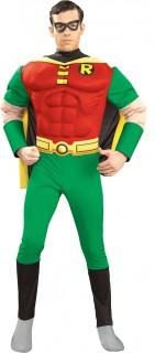 Robin™-Kostüm für Herren Superhelden-Kostüm Karneval rot-grün