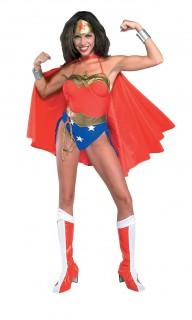Wonder Woman™-Kostüm für Damen sexy Kostüm Karneval rot-blau-gold