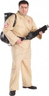Ghostbusters™-Kostüm für Herren in Übergröße Halloweenkostüm beige-schwarz