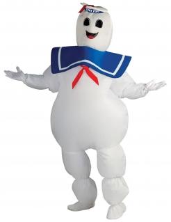 Aufblasbares Ghostbusters-Erwachsenenkostüm - Marshmallow Man weiß