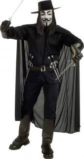 Vendeta Halloween Herrenkostüm schwarz