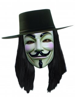 V wie Vendetta™ Perücke schwarz