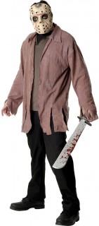 Jason™-Herrenkostüm Halloweenkostüm rosa-beige
