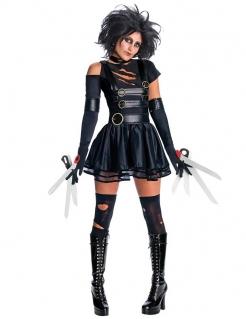 Halloween Scheren Kostüm für Damen schwarz