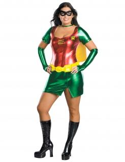 Robin™-Damenkostüm für große Größen Faschingskostüm grün-rot-gelb