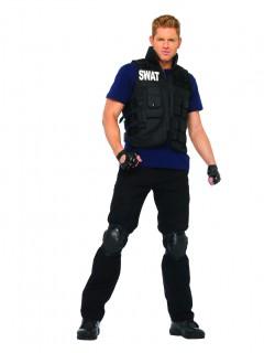 SWAT Offizier Kostüm schwarz-blau