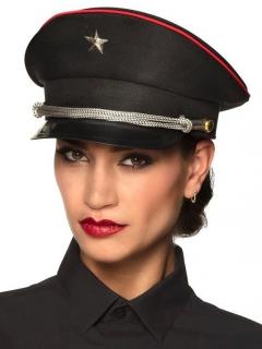 Kapitäns-Mütze für Damen Kostümaccessoire schwarz