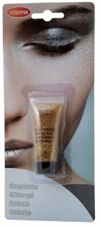 Glitzer Make-Up Gel Schminke gold 14ml