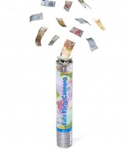 Kanone Konfetti aus Geldscheinen
