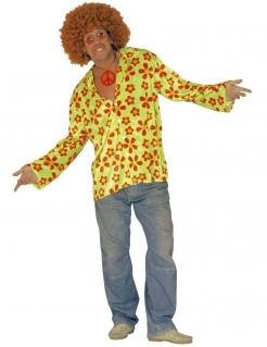 Hippie Hemd neongrün-rot