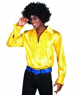 Disco-Herrenhemd 80er-Jahre-Männerhemd gelb