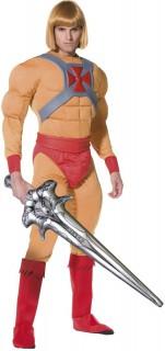 He-Man Superheld Comic Lizenz Kostüm beige-rot
