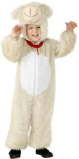 Schäfchen Kostüm Kinderoverall beige-weiss