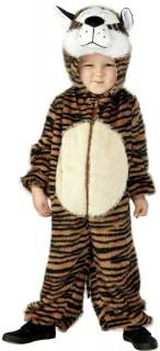 Tiger Kinder-Kostüm schwarz-braun