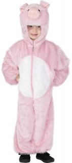 Schwein Kinderkostüm Faschingskostüm rosa-weiss