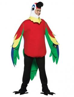 Papagei-Kostüm Unisex-Tierkostüm rot-grün-gelb