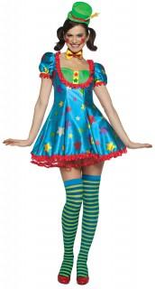 Clown Karneval Damenkostüm