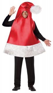 Weihnachtsmütze Kostüm Weihnachten rot-weiss