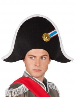 Napoleon Zweispitz-Hut schwarz