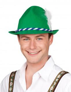 Bayrischer Hut mit Hutband grün-weiss-blau