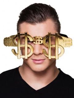 Große Brille mit Dollarzeichen