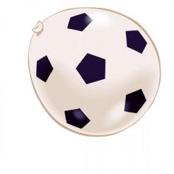 Luftballons mit Fußball-Motiven