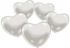 Herz-Luftballons Hochzeitsdeko für Verliebte 10 Stück weiss