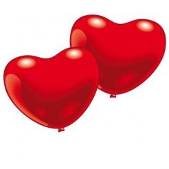 Herz-Luftballons Valentinstag-Deko 10 Stück rot