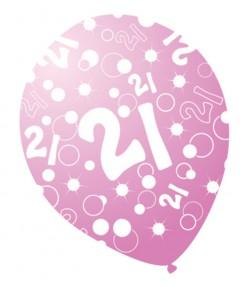 Set Geburtstagsballons 21 Jahre