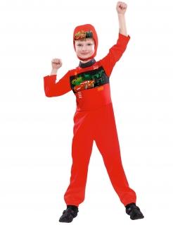 Cars™-Kinderkostüm Diney Pixar™-Lizenzkostüm Rennfahrer-Kostüm rot