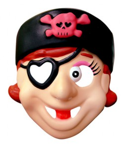 Piratinnen-Maske Kinder