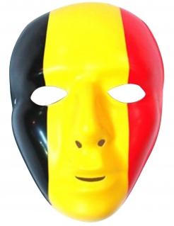 Belgien-Maske für Erwachsene schwarz-gelb-rot