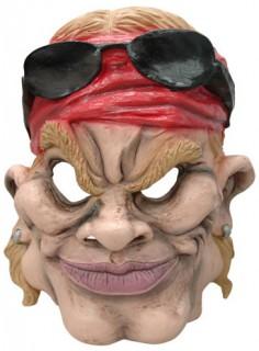 Rockstar-Maske Erwachsene hautfarben-rot-schwarz