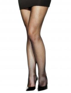 Netzstrumpfhose Kostüm-Accessoire schwarz