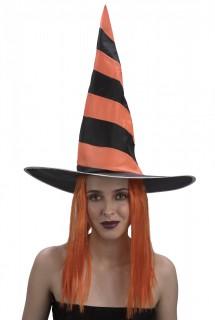 Hexenhut mit Perücke Halloween-Accessoire
