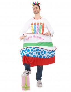 Lustiges Geburtstagskuchen Kostüm bunt