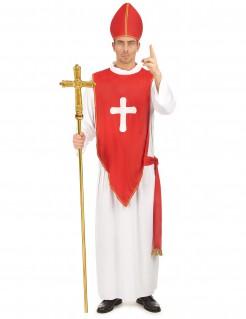 Kardinal Herren-Kostüm rot-weiss