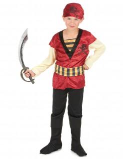 Gefährlicher Pirat Kinderkostüm weinrot-schwarz