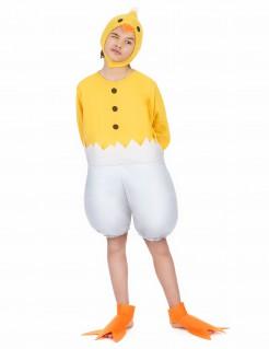 Küken-Kinderkostüm Huhnkostüm gelb-weiss
