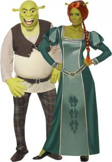 Shreck und Fiona™-Paarkostüm Karneval grün-braun