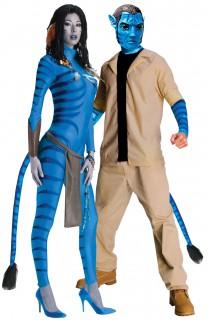 Avatar™ Paarkostüm Neytiri und Jake Sully  blau-beige