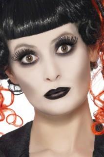 Gothic Make-Up-Set Halloween weiss-schwarz 9g