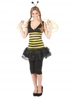 Bienen Damen-Kostüm schwarz-gelb
