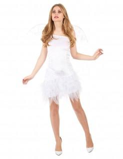 Sexy Engel Damenkostüm weiss