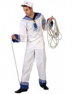 Seemann-Kostüm für Herren weiß-blau