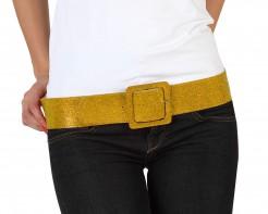 Glitzer-Gürtel Disco-Accessoire gold