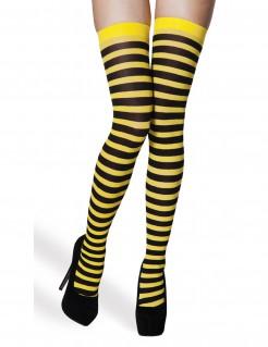 Strümpfe Gelb-Schwarz für Damen